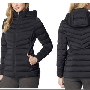 32 degrees black light weight puffer coat